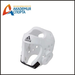 Шлем для тхэквондо Head Guard Dip Foam WTF белый adiTHG01